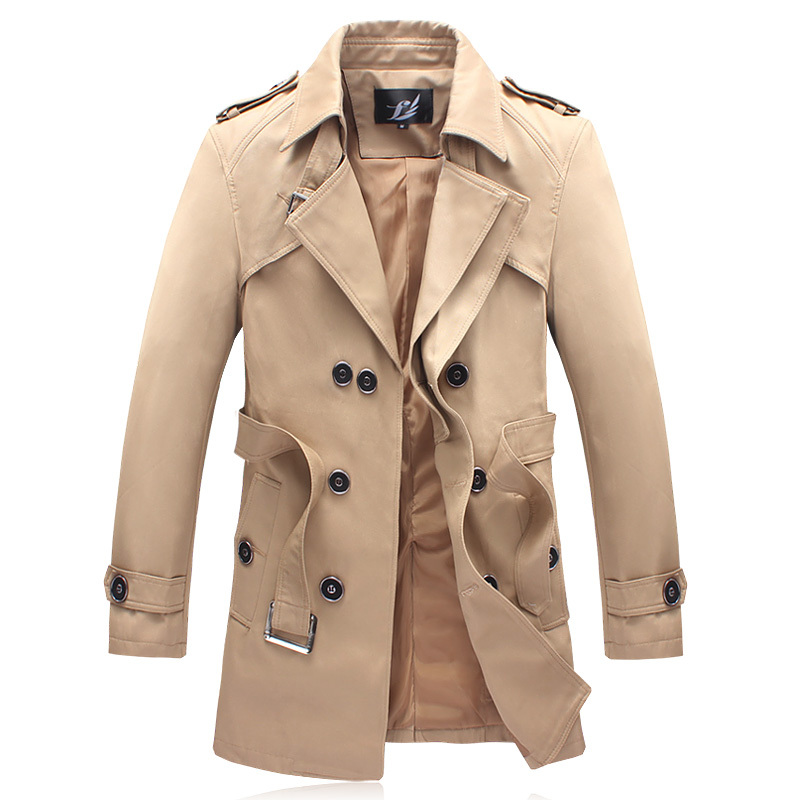 Popular Mens Long Khaki Trench Coat-Buy Cheap Mens Long Khaki ...