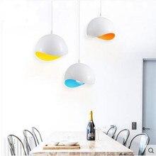 Современный подвесной светильник диаметр 20 см СВЕТОДИОДНЫЙ алюминиевый потолок внутреннего освещения ресторан столовая бар магазины светильник