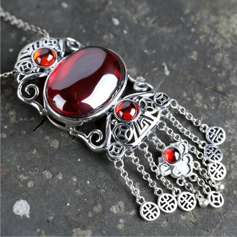 Bijoux en argent secteur grenade pendentif Ruyi bijoux en argent serrure pith unique nouvelle offre spéciale en gros