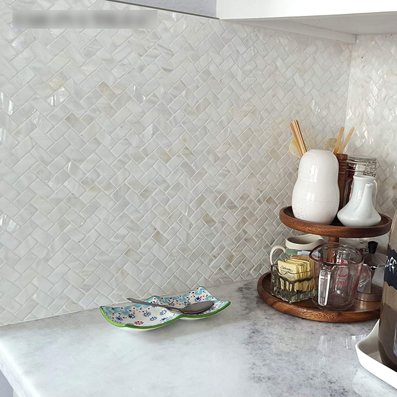 Natural Shell Mosaic Tiles Simple Modern Bathroom Porch Aisle Decorative Art Television Background Cabinet Kitchen Wall Mosaic Making Aliexpress