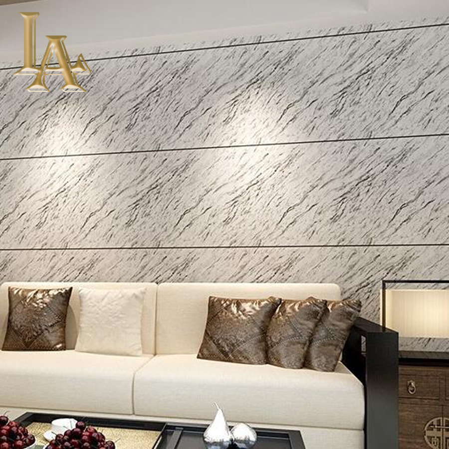 Waterproof Vinyl Yellow Grey Marble Wallpaper 3D Design PVC Modern Wall Paper Living Room Sofa TV