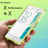 For Fundas Xperia X Case Luxury Deluxe Ultra Thin Aluminum Bumper For Sony Xperia X Performance