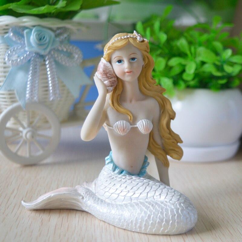 Sexy beauty Mermaid Animals Home decor Kawaii fairy garden miniatures resin Figurines Miniatures crafts fish tank Accessories in Figurines Miniatures from Home Garden