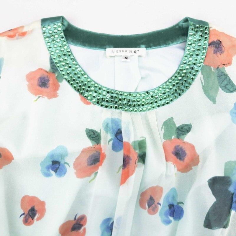 Vestido de verano de talla grande de seda rockabilly para mujer, vestidos de fiesta retro de playa boho para banquetes, hada blanca estampada con flores 2019 - 5