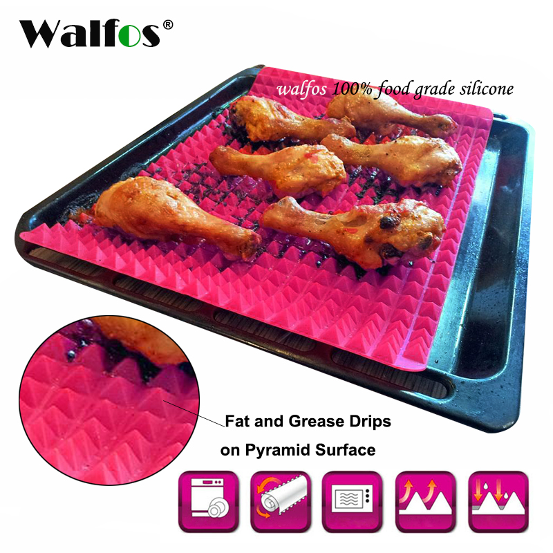 WALFOS food grade Pyramid Bakeware Pan Antilengket Silikon Kue Tikar Bantalan Mudah Metode untuk Oven Kue Nampan Peralatan Dapur