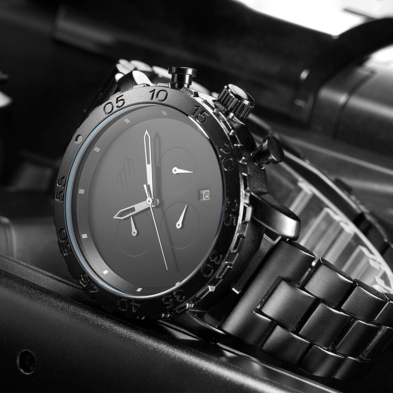 SINOBI Men's Sports Watch Top Brand Luxury Men's Waterproof Quartz Watch Chronograph Male Clock Relogio Masculino
