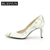 BUZIYUN Mix Colors High Heels Shoes Women Pumps Pointed Toe Thin High Heels 2017 New Fashion