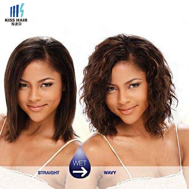 Kiss Hair Wet And Wavy Virgin Brazilian Hair Weave Short Bob Style