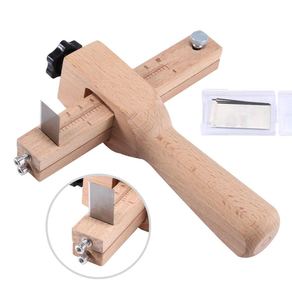 Qualität Einstellbare Leder Handwerk Cutter Strap Gürtel DIY Hand Schneiden Werkzeuge Holz Streifen Cutter Mit 5 Scharfe Klingen Neue Ankunft