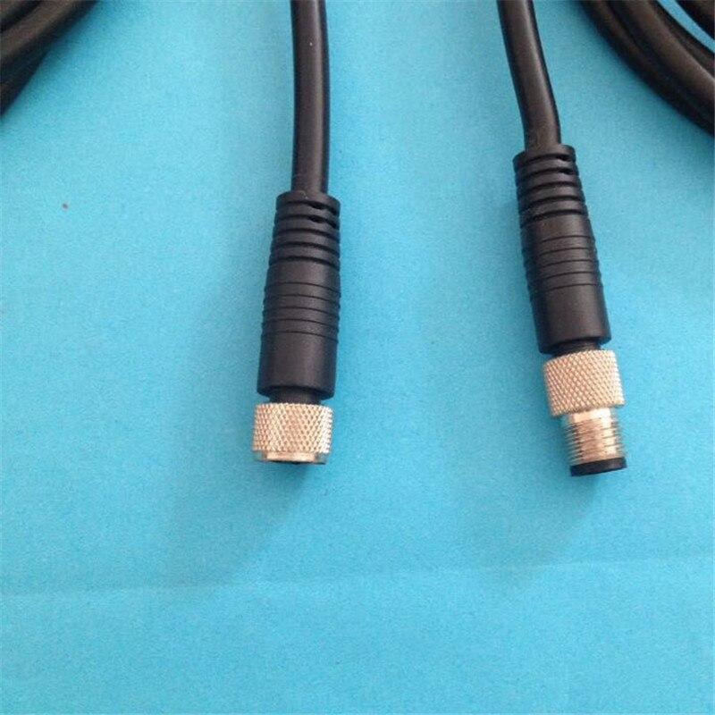 Купить с кэшбэком 1PCS SS028 M8 waterproof aviation plug female/male 3PIN 4PIN sensor encoder connector screw fixation non-welding