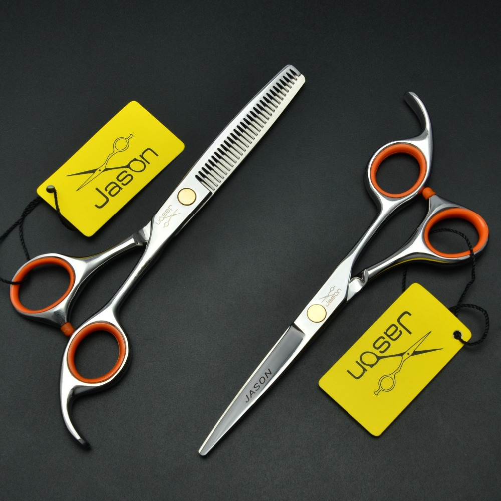 304# 6'' Brand Jason TOP GRADE Hairdressing Scissors JP 440C Professional Barbers Cutting Scissors Thinning Shears Hair Scissors