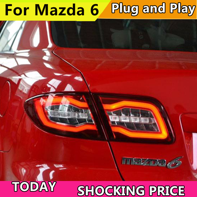 Car taillight for Mazda 6 Taillights 2004 2013 Mazda6 Classic LED Tail Lamp Rear Lamp DRL+Brake+Park+Signal led light back