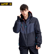 WHS 2016 Men Snow Ski Jacket Brand Outdoor windproof waterproof coat Man snow clothes breathable sport jackets hiking sportswear