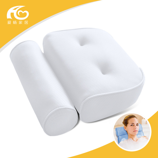 New Adult SPA bathtub pillow, 3D Jacuzzi Tub With Sucker Anti-skid Bathing Cushions Bath Pillows Non-slip type Bathroom Products adult spa inflatable bath tub boby swimming pool electric pumper thermal pvc bathtub anti cracking with harmless natural rubb