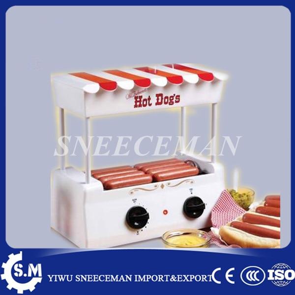 Hot dog roller 5 sticks sausage machine Barbecue machine bun warmer