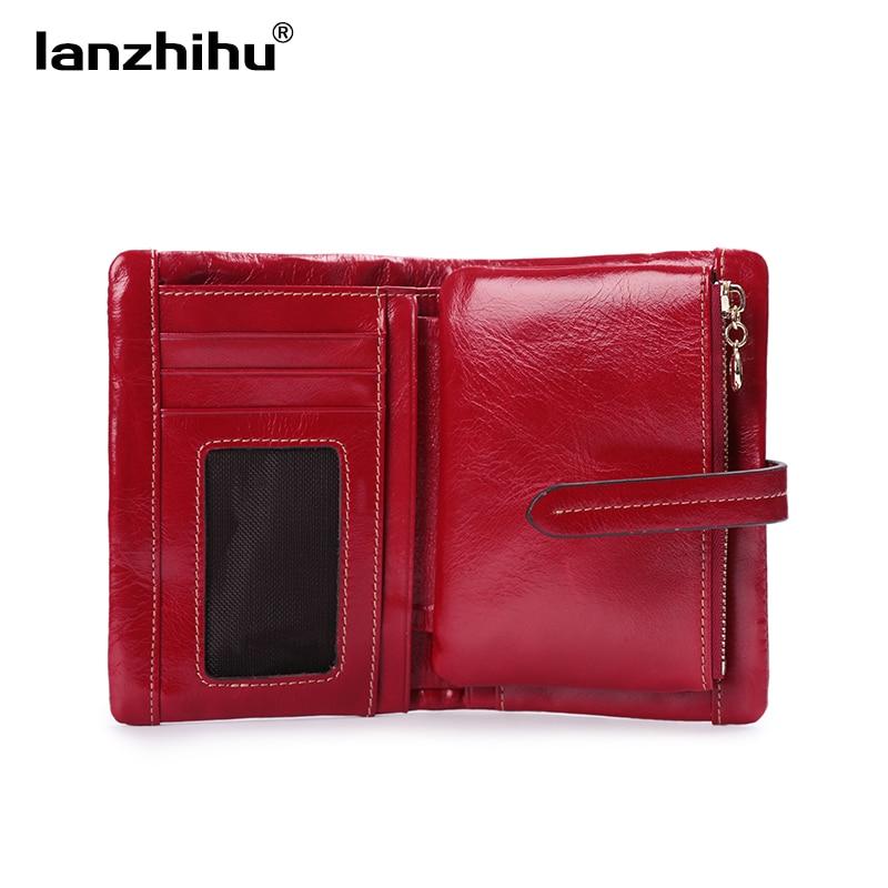 100% mulheres verdadeira carteira de Tipo : Women Short Leather Wallet