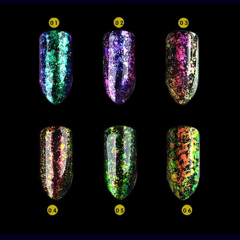 0.2 g / caja Multichrome Chameleon Flakes uñas holográfico láser - Arte de uñas - foto 3