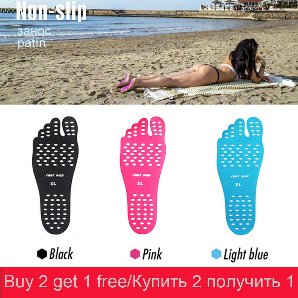 Sticker Shoes Stick on Soles Sticky Pads for Feet beach sock waterproof Hypoallergenic adhesive pad for
