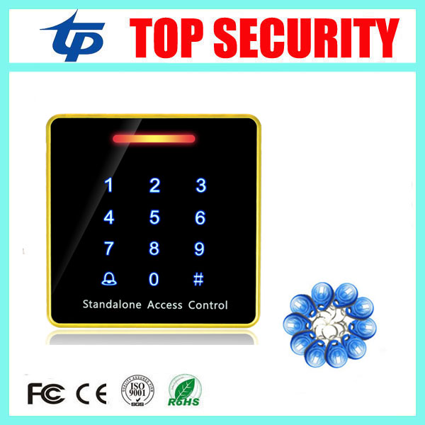 цена на Single door access controller biometric smart RFID card access control reader system touch waterproof keypad ID card reader