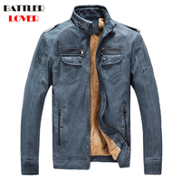 2018 Winter Bomber Jacket Men Air Force Pilot Jacket Warm Males Cow Leather Army Jacket tactical Mens Thick Jacket Biker Hombre