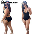 Large Size Swimwear Women Plus Size Swimwears Bikinis Set Sexy Split Black Female Swimsuit Push Up One-Piece Suits Bikini Suit