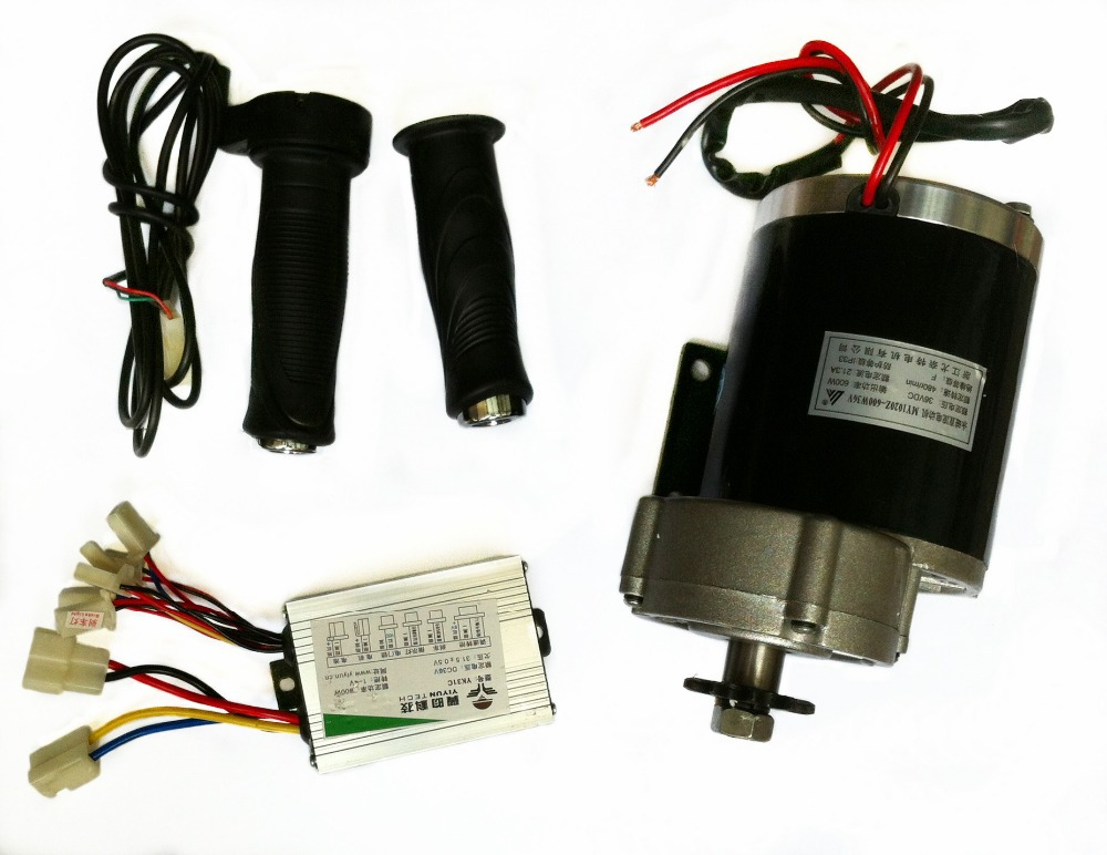 MY1020Z 450W 24V Brushed DC Motor with Motor Controller and Twist Throttle Electric Trike DIY E