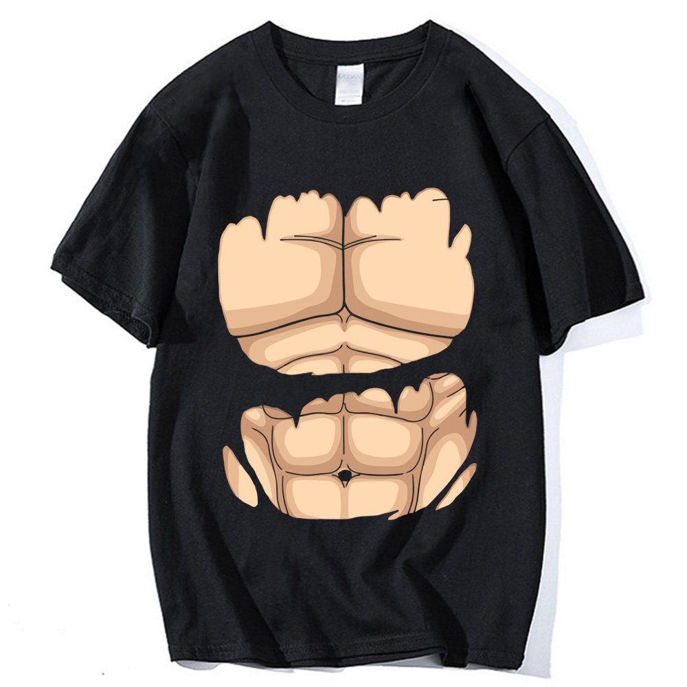 Strong muscle Tops tees for men Plus size cotton Dragon Ball Z Super Saiyan Tees shirt homme sportwear T-shirt 2019 summer S-3XL