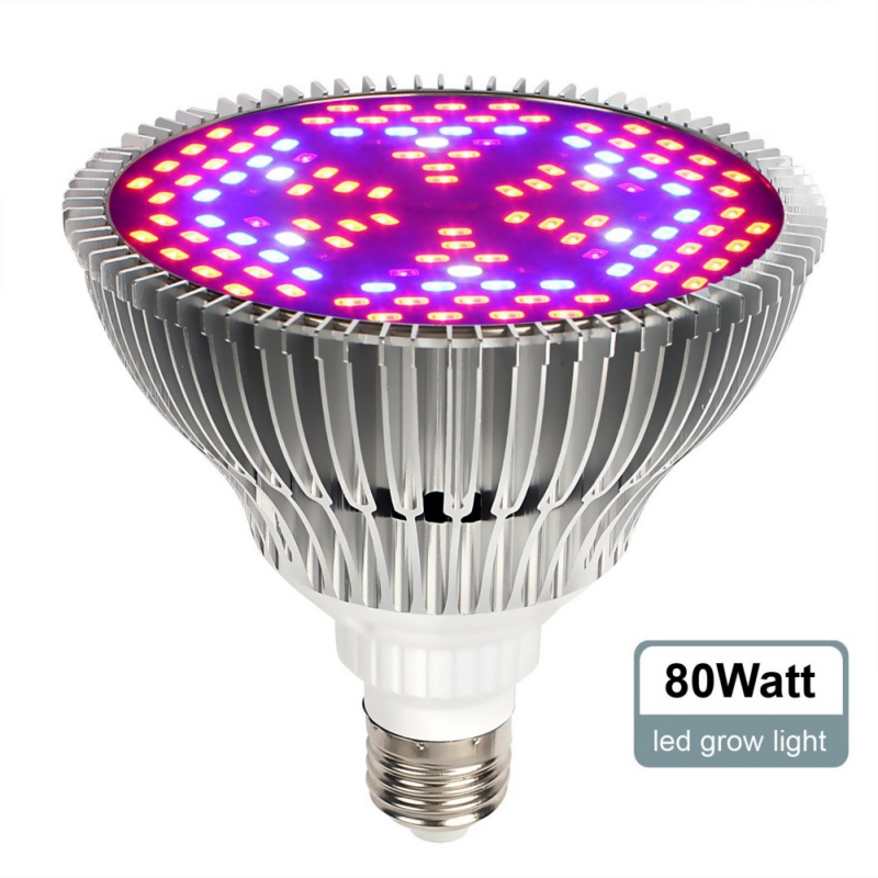 1 unids espectro completo llevado crece la luz E27 30 W 50 W 80 W llevó la lámpara creciente para la planta de la flor sistema del hidroponía llevó la iluminación llevada