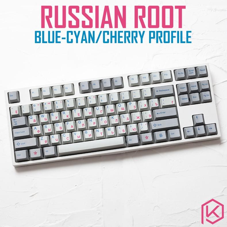 Kprepublic 139 Russian Root Font Blue Cyan Cherry Profile Dye Sub
