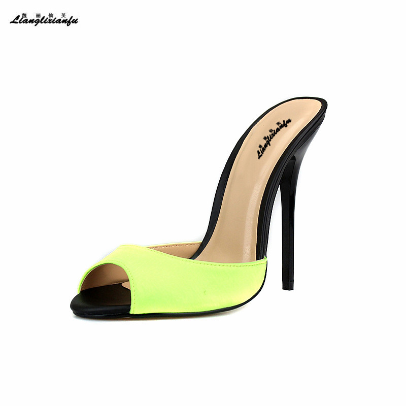 LLXF Plus:40-45 46 47 48 49 50 Summer Slingbacks Sandals Ladies Stilettos 14cm thin High-Heeled sexy shoes woman Peep Toe pumps cdts summer 14cm thin heels wedding shoes sexy narrow band pumps peep toe buckle gold bottoms sandals plus 44 45 46 47 48 49 50