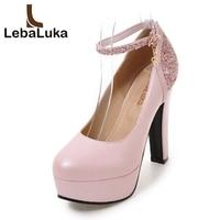 Tuyoki Size 35 43 Women Glitters High Heels Shoes Ankle Strap Platform Fashion Pumps Women Buckle Shoes Office Party Footwear