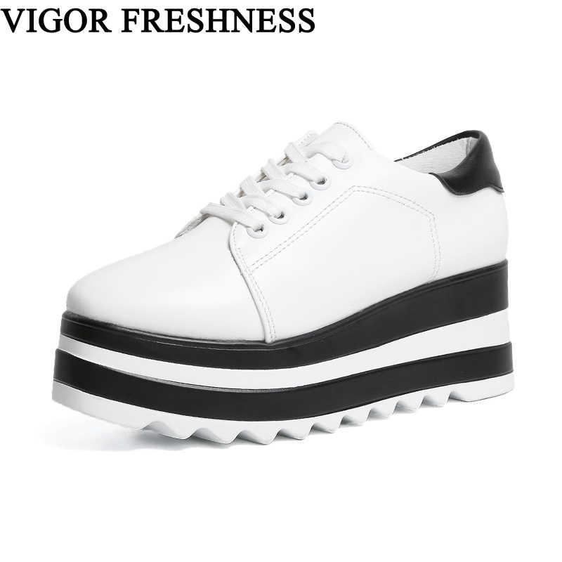 9b57d8642c2c VIGOR свежесть на платформе Для женщин кроссовки Женская обувь  туфли-лодочки на танкетке обувь на