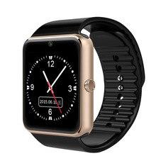 2016 recién llegado de smart watch gt08 notificador de sincronización de reloj sim soporte de tarjeta tf conectividad apple iphone teléfono android smartwatch