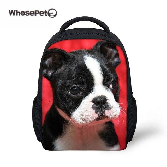 03f9958ac9 WHOSEPET Kindergarten School Bag Baby Girls Schoolbag Boston Terrier Printing  Mini Kawaii Backpack Kids Small Bagpack
