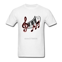 Darr Music Notes Homme T Shirts Clothing Men S O Neck Simple Style Funny Tee Shirts