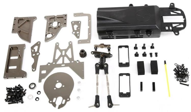 CNC präzision bearbeitung benzin motor drive zu elektrische stick conversion kit für ROVAN KM ROFUN HPI BAJA 5B 5T 5SC