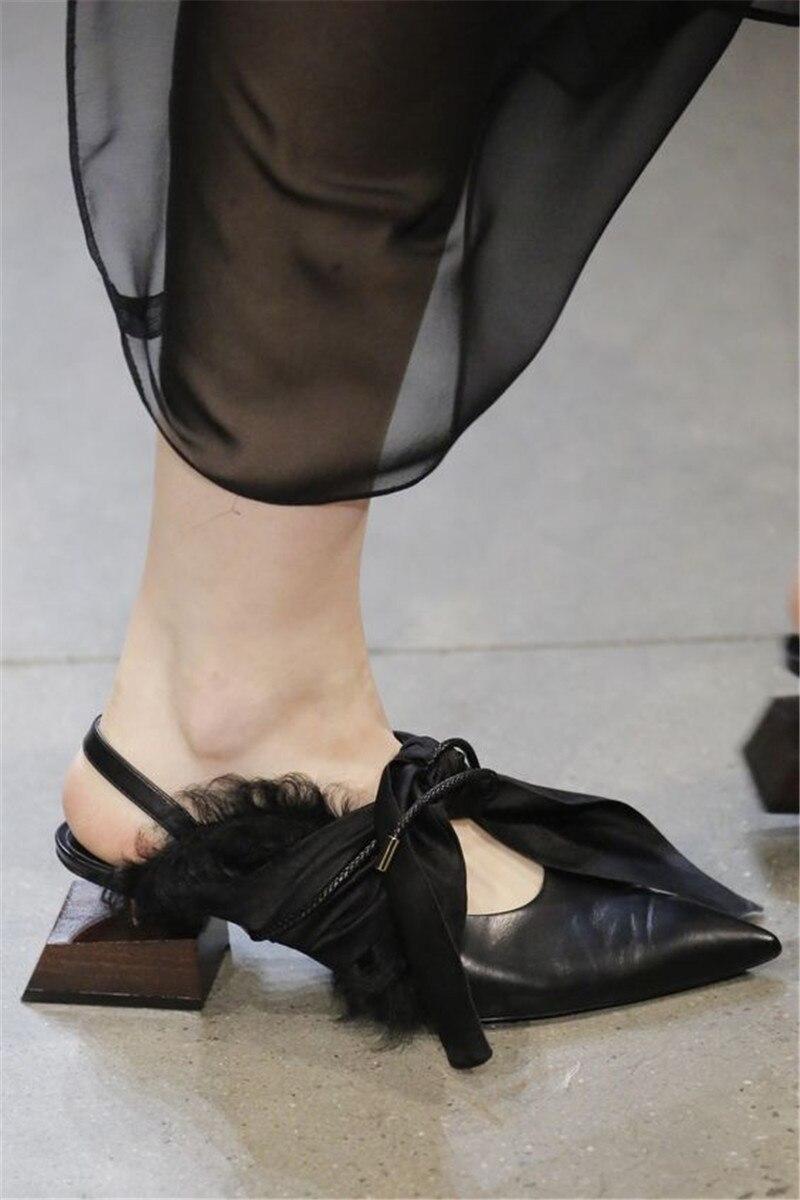 Piel Mariposa As Shown Genuino Cuero as Con Mujer Cordones Pasarela Tacón Otoño De Nuevos Zapatos Shown Para Mujer Diseño 2018 Alto qOCBqw