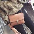 Leftside novo 2017 7 cor clain bloqueio moda feminina crossbody bag bolsa sacos de ombro simples pequena bolsa sacos de mulheres mensageiro