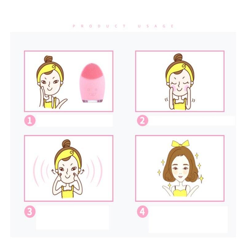 Dispositivos de Limpeza Massagem Facial Limpeza Escova Elétrica