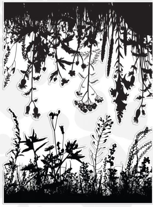 Wildflowers Clear Stamp For DIY Scrapbooking/Card Making/Kids Fun Decoration Supplies A2059
