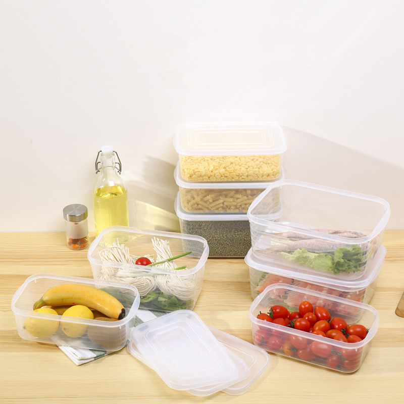 Image 5 - 1Refrigerator Food Storage Box Transparent PP Grains Beans Container Home Organizer Sealed Kitchen Fruit Storage Boxes With Lid-in Storage Boxes & Bins from Home & Garden
