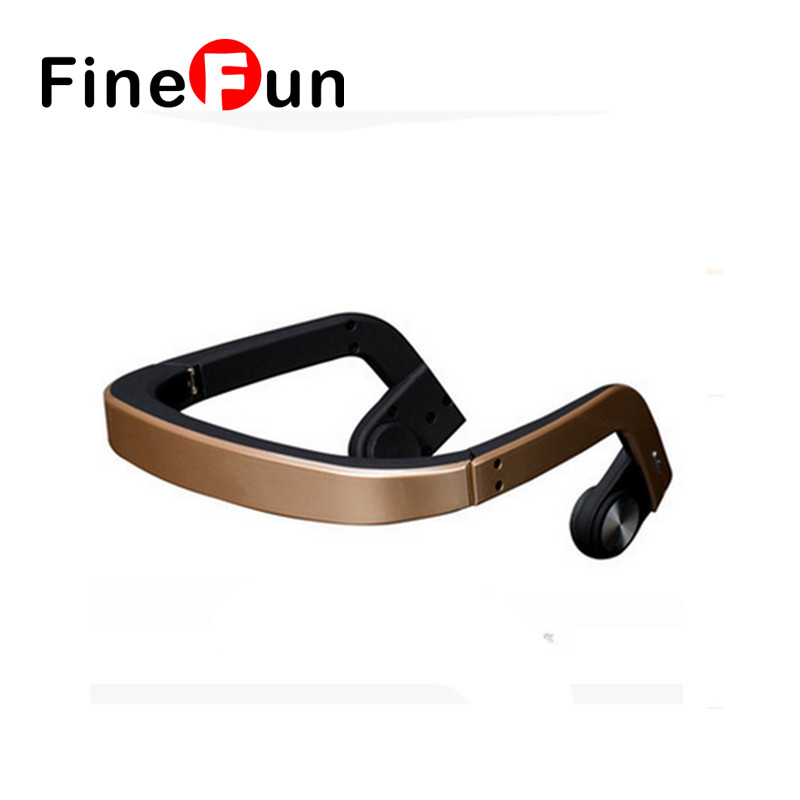 ФОТО FineFun New hot sale Bluetooth Headphones Sport Bone Conduction Bluetooth Headset Wireless Headphones