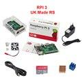 REINO UNIDO RS Caso Raspberry Pi 3 Modelo B + Acrílico + Fã + 2.5A Adaptador De Energia + 1.5 M Cabo HDMI para hdmi + Cobre De Calor de Alumínio pia