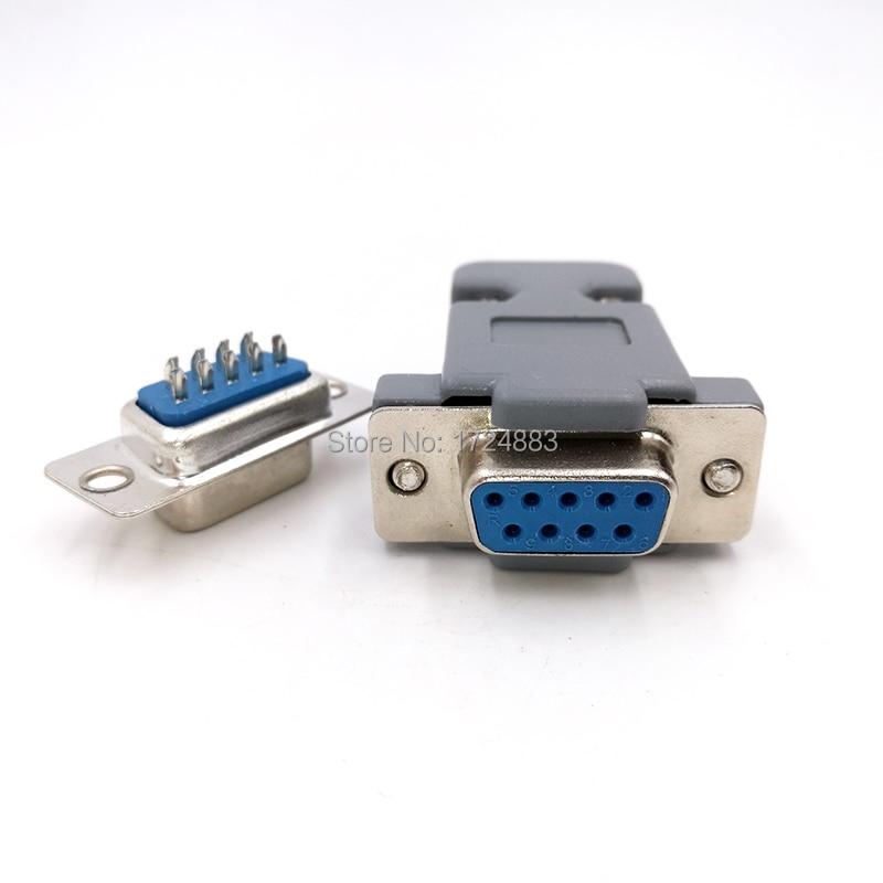 DB9 разъем последовательного адаптера разъем D Тип RS232 COM 9 pin отверстие порт розетка женский и мужской винт установка + оболочка DP9