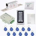 125KHz Standalone Keypad Access Control System Kit DC12V Electric Lock+Power Supply Control+Doorbell+10 pcs RFID Cards F1215D