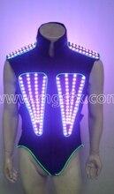 Free shipping RGB Light up led Jacket / DJ led costume dress suits