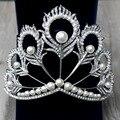 Vintage Pearl Veil Tiara Bridal Jewelry Quinceanera Rhinestone Crystal Pageant Crowns Wedding Baroque Hair Accessories For Bride