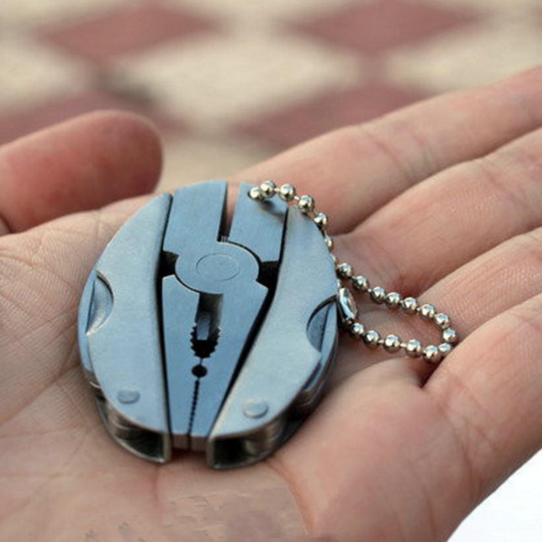 New 1PC Outdoor Mini Folding Muilti-functional Plier Clamp Folding multi - clamp Keychain Outdoor Hiking Tool pocket multitools(China)