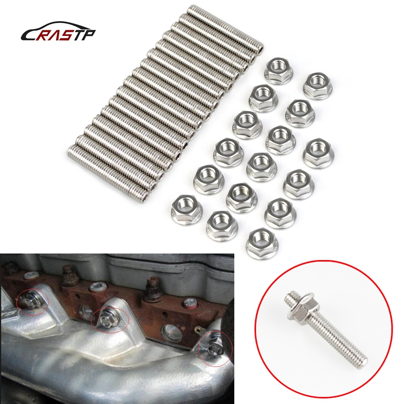 Rastp 16pcs Stainless Exhaust Manifold Stud Kit Nuts For 2 Manifolds For Ford 4.6&5.4 V8 Liter Rs-tc011 For Sale Air Intake System