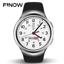 "Reloj inteligente Finow K9 X3 1.3 ""podómetro Gimnasio Rastreador Bluetooth 3G Wifi Andorid 4.4 512 M + 4G Para iOS y Andorid Teléfono PK KW18 I2"